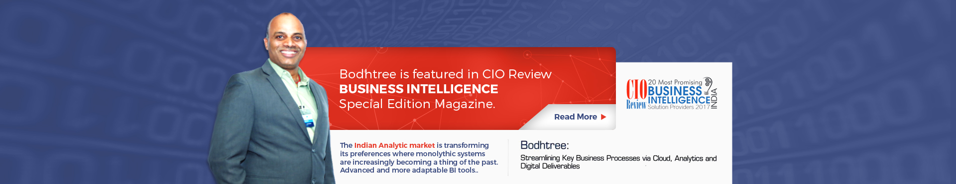 Bodhtree is featured in CIO Review Business Intelligence Special Edition