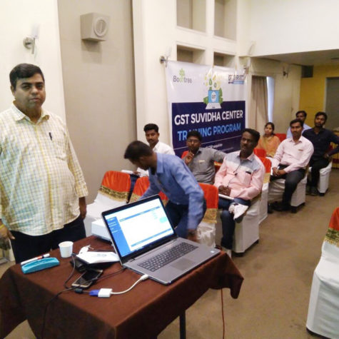 Training on our WayGST Application to Bodhtree's GST Suvidha Service Providers at Sholapur, about 25 such operators participated in this training.